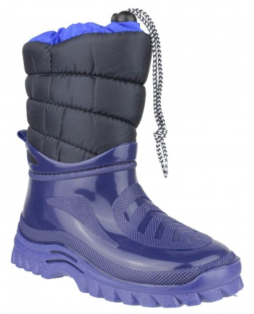 Flurry Kids Warm-Lined Boot Blue