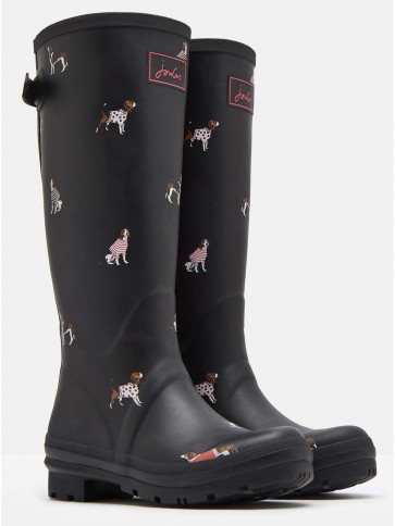 Joules Printed Wellies Black Jumper Dogs