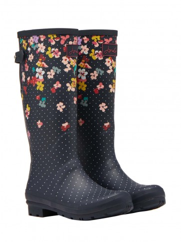 Joules Floral Printed Wellies Navy Blossom