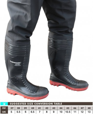 Dunlop Acifort A252931CW Chest Wader Black - Black
