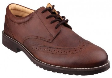 Cotswold Hardwicke Featherlight Lace up Brogue Shoe BROWN - Brown