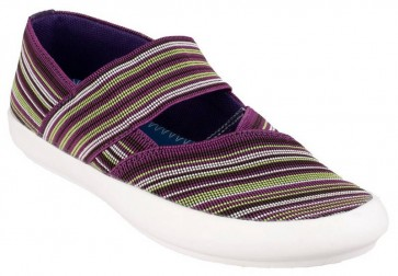 Cotswold Oxhill Slip on Casual Summer Shoe Multi/Purple - Purple