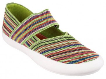 Cotswold Oxhill Slip on Casual Summer Shoe Multi/Green - Green