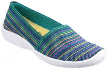 Cotswold Loxley Slip on Casual Summer Shoe Multi/Blue - Blue