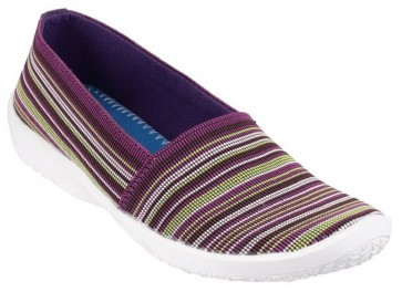 Cotswold Loxley Slip on Casual Summer Shoe Multi/Purple - Purple