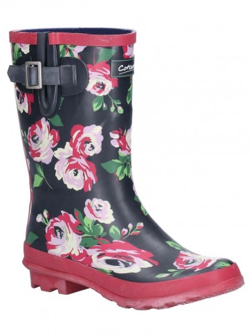 Cotswold Paxford Mid Calf Wellington Flower