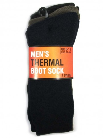 3 Pack Men's Thermal Boot Sock