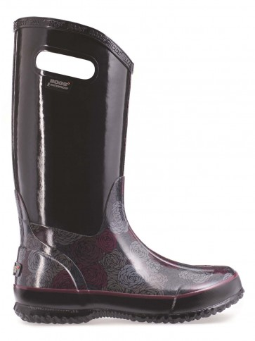 Bogs Rainboot Rosey Black Multi