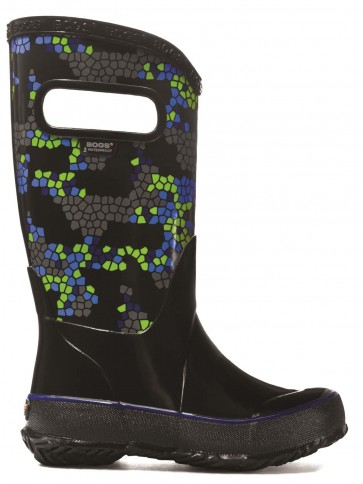 Bogs Kids Rain Boot Axel Black Multi