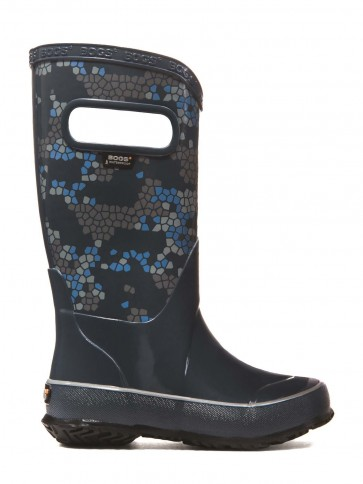 Bogs Kids Rain Boot Axel Navy Multi