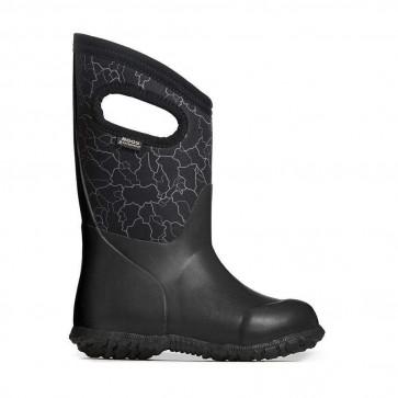 Bogs Durham Crackle Kids' Insulated Black Multi Rain Boots