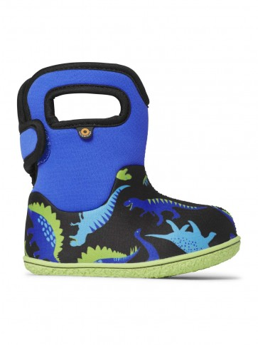 Baby Bogs Dino Wellies Electric Blue Multi