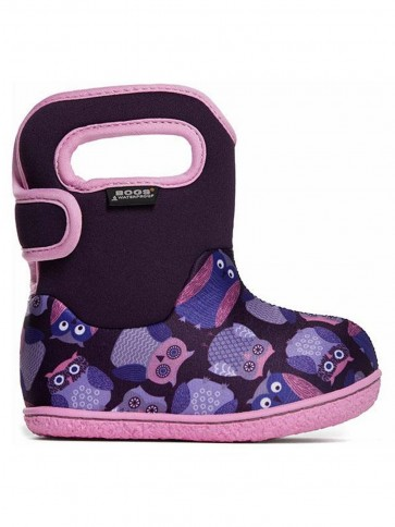 Baby Bogs Owls Purple Multi Wellies