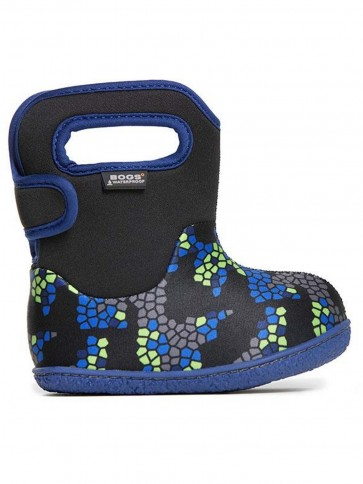 Baby Bogs Axel Black Multi Rainboots