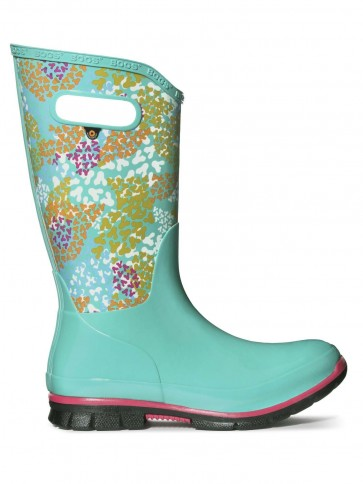 Bogs Berkley Footprint Wellies Turquoise Multi