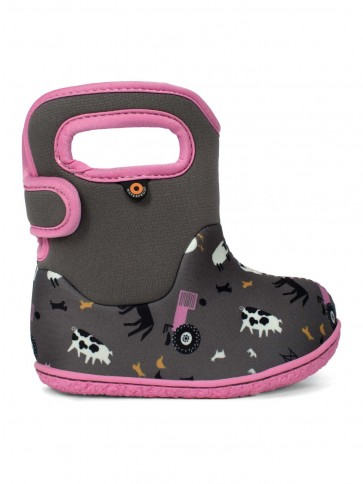 Baby Bogs Farm Wellies Grey Multi