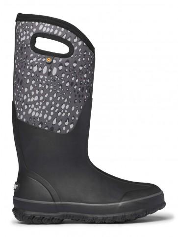 Bogs Classic Tall Appaloosa Wellington Boots Black Multi