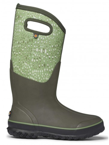 Bogs Classic Tall Appaloosa Wellington Boots Olive Multi
