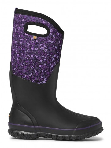 Bogs Classic Tall Freckle Flower Black/Purple