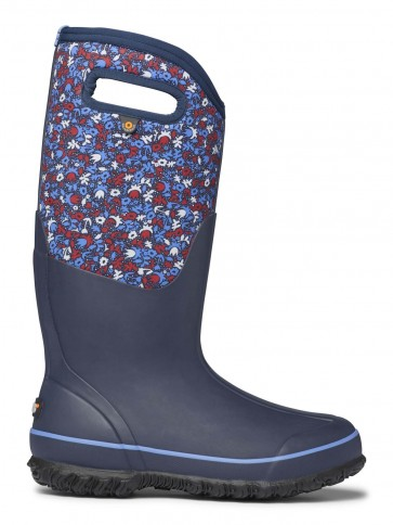 Bogs Classic Tall Freckle Flower Blue Multi