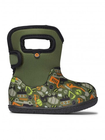 Baby Bogs Construction Wellies Green Multi