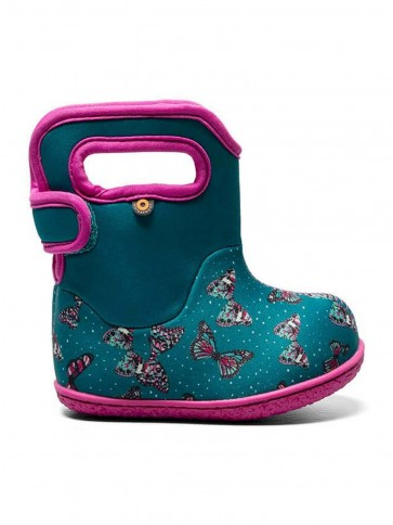 Baby Bogs Butterflies Wellies Teal Multi