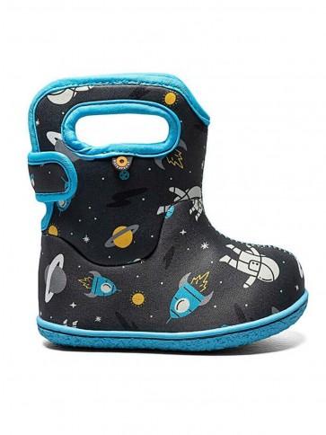 Baby Bogs Spaceman Wellies Dark Grey Multi