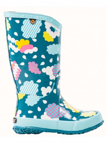 Bogs Kids Cloud Wellington Aqua Multi