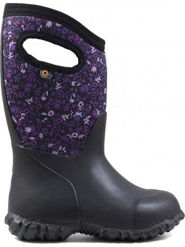 Bogs Kids York Freckle Flower Black/Purple
