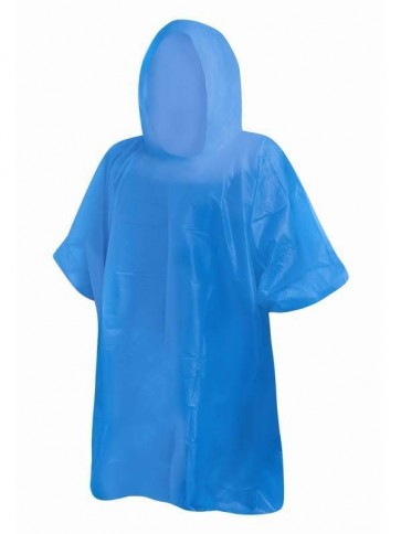Adult Re-Usable Rain Poncho Blue