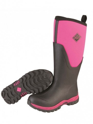 Muck Boots Women's Arctic Sport II Tall Black/Hot Pink