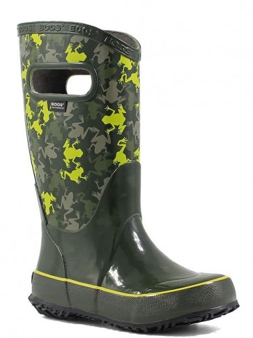 Bogs Kids Rain Boot Frogs Moss Multi