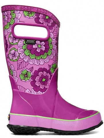 Bogs Kids Rain Boot Pansies Berry Multi