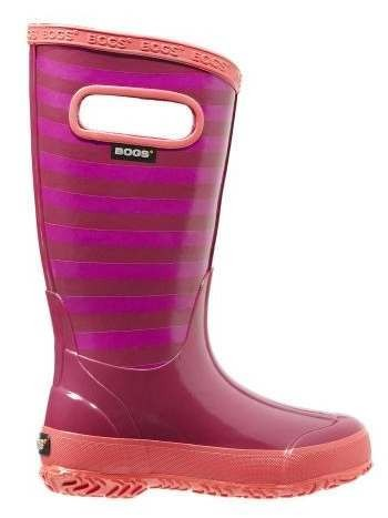 Bogs Kids Rainboot Berry Stripe
