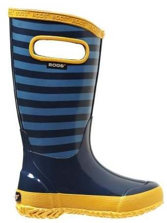 Bogs Kids Rainboot Navy Multi Stripe