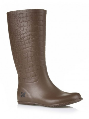 Folding Packaway Welly - Carlisle Brown Croc