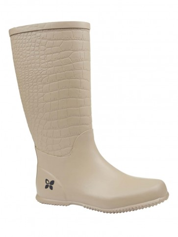 Folding Packaway Welly - Carlisle Taupe Croc