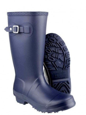 Buckingham Kids Plain Welly Navy