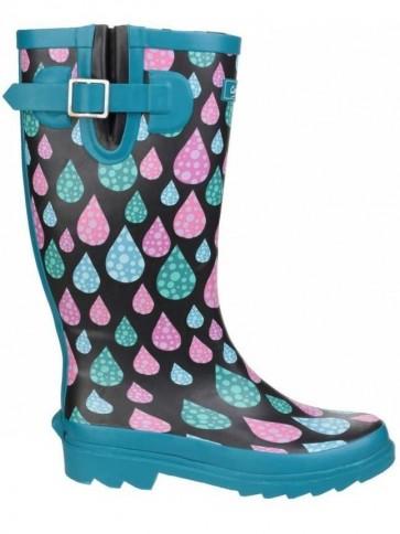 Raindrop Print Welly