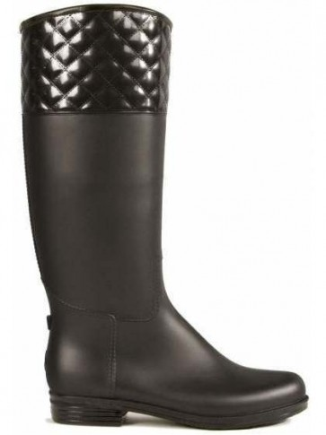 Dav Rainboot Quilted Black