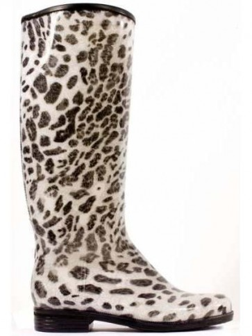 Dav Rainboot Snow Leopard