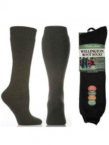 Gold Edition Ladies Wool Rich Welly Socks
