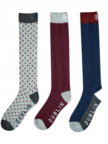 Dublin Classic Socks 3 Pack Navy