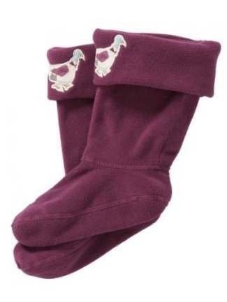 Joules Duck Children's Welly Sock Purple