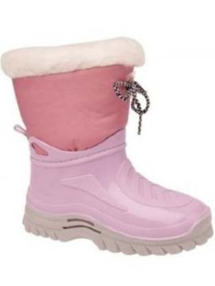 Girls Pink Warm Boot