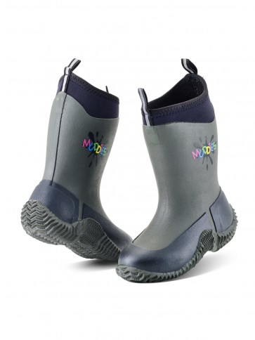 Grubs Muddies Icicle 5.0 Children's Wellies Charcoal