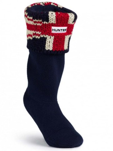 Hunter Kids Brit Cuff Welly Socks