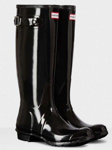 Hunter Women's Original Tall Gloss Black