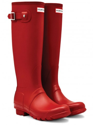 Hunter Women's Original Tall Military Red