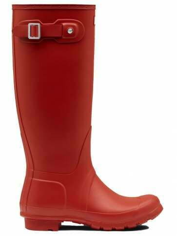Hunter Women's Original Tall Military Red